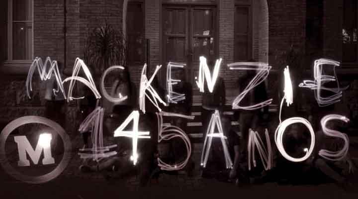 Identidade campanha Mackenzie 145 anos
